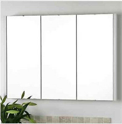BATHROOM MIRROR CABINET SHAVING & STORAGE WALL MOUNTED 3xDOORS 900MM