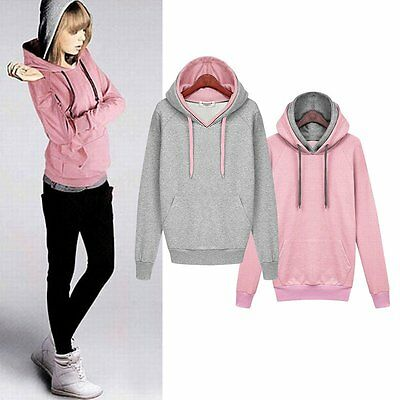 Chic Women Warm Hoodies Long Sleeve Sweatshirt Casual Pullover Loose Sports Tops