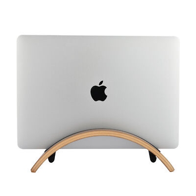 SAMDI  Wood Arc Shape Stand PAD Holder Mount For MacBook Pro Laptop