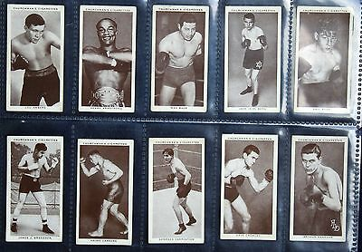 CHURCHMANS Cigarette Cards - BOXING PERSONALITIES  1938 - (INCL 1 VARIANT) - VGC