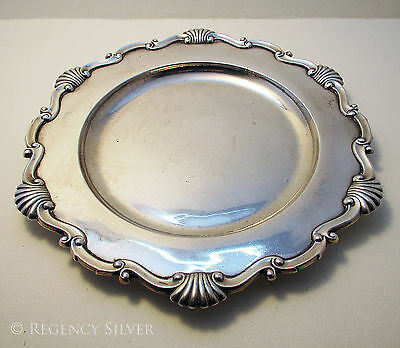 Antique EDWARDIAN Sterling Silver English Salver Dish Tray NEWCASTLE Reid Sons