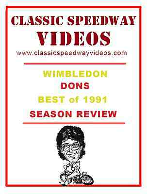 Wimbledon Montine Dons 1991 Review. Speedway video on dvd. Xmas stocking filler!