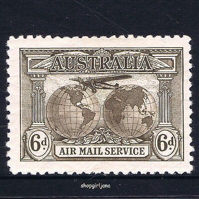 1931 - Australia - Charles Kingsford Smith Air Mail Service - 6d. sepia - MNH