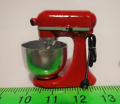 1:12 Scale Non Working  Food Mixer Dolls House Miniature Kitchen Accessory( RED)