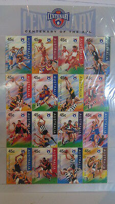 Australia 1996 Release Centenary of the AFL 16 Stamp Set MNH