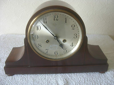 Wind up mantel clock with chimes in working condition - Wurttemburg