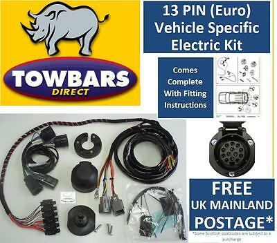 13 Pin Towbar Wiring Kit for Dodge Nitro 2007on Electrics Dedicated Specific Kit