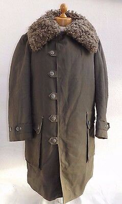 "WW11-Dated1944-Swedish Army M1909 Sheepskin Winter Coat Or ""Livpals""-Size 2 (XL)"