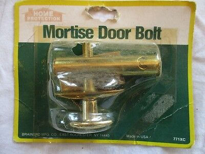 Brainerd Brass Plated Mortise Door Bolt #771XC--NOS