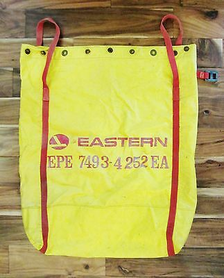 """Rare Vtg. Eastern Airlines Mail Postal Bag Aviation Yellow w/ Red 33""""x28"""""""