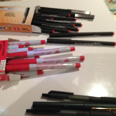 SHARPIE PERMANENT MARKERS * RED * ULTRA FINE POINT * 12 Pack 37002