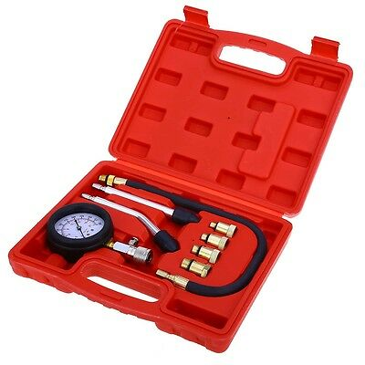 Hot Cylinder Pressure Gauge Compression Tester Kit Professional Gas Engine Car