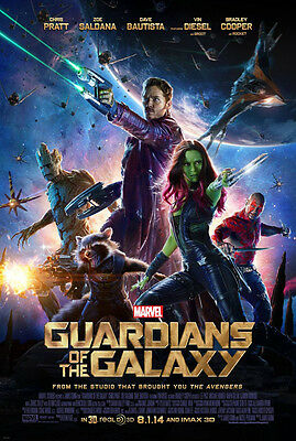 GUARDIANS OF THE GALAXY MOVIE POSTER 2 Sided ORIGINAL US FINAL 27x40