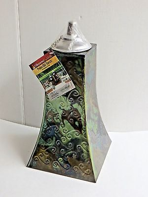 "15"" Decora Flame Metal Patio Table Lamp Oil Torch For Outdoor Use NEW"