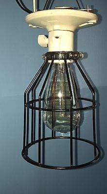 Industrial Unique Flush Mount Mancave Hallway Fixture Vintage Antique Wired