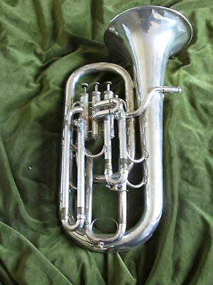vintage silver plated baritone by Hawkes & son