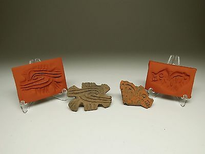 Pre-Columbian Zoomorphic Stamps (Lot Of 2)