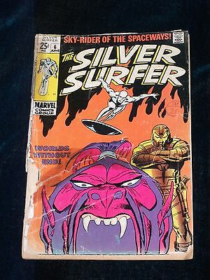 Silver Surfer # 6 (1968 1st Series) Worlds without end rare