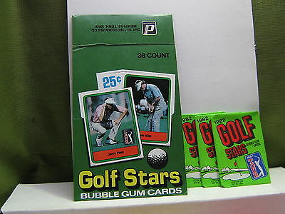 1982 DONRUSS GOLF EMPTY BOX with 3 wrappers   CHEAP
