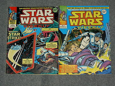 STAR WARS RARE COMICS VINTAGE 2 x EARLY ISSUE'S,NO 7 + 9 1978 COMIC LOT.11711
