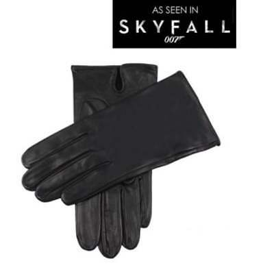 Dents James Bond Skyfall Men's Leather Gloves BLACK