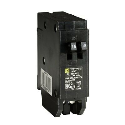 Square D by Schneider Electric  Homeline 2-15 Amp 1-Pole Tandem Circuit Breaker