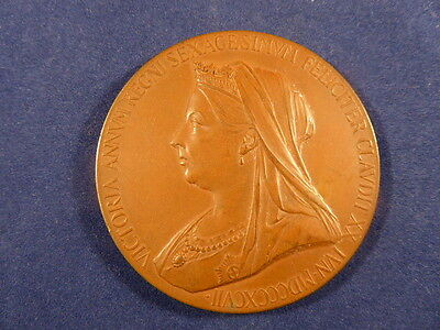 Queen Victoria Diamond Jubilee 1837 – 1897 Large Bronze Medal By Royal Mint