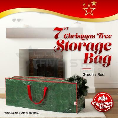 Christmas Tree Zip Up Storage Bag For Up To 7Ft Trees Decorations Green Sack