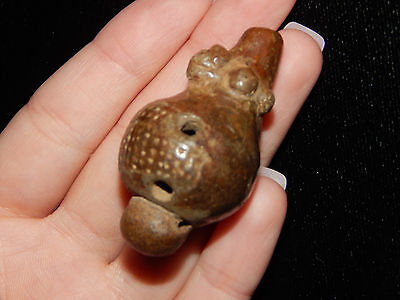 Pre-Columbian Ocarina Whistle , Central America, Authentic