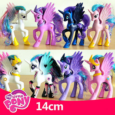 14CM My Little Pony Cake Toppers PVC Kids Girls Toys Gift Figurines Decoration T
