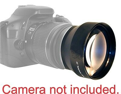 52MM TELEPHOTO Lens for Canon EF 50mm f/1.8 II HD 2X MAGNIFICATION