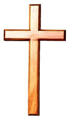 Christian brown wood wooden Cross 30cm Hanging wall large long crucifix