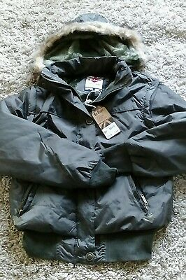 Lee Cooper Ladies /girls Padded Hooded Jacket Size 12 Green New Quality Coat