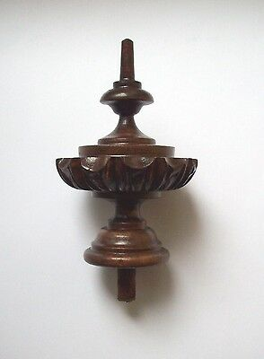 WOODEN FINIALS TO ANTIQUE CLOCK VIENNA BECKER LENZKIRCH nr.20