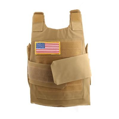 Tactical Military SWAT Police Molle Combat Assault Plate Carrier Vest