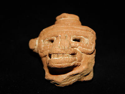 Pre-Columbian Clay Head Collection, Fragment Collection, Set of 3