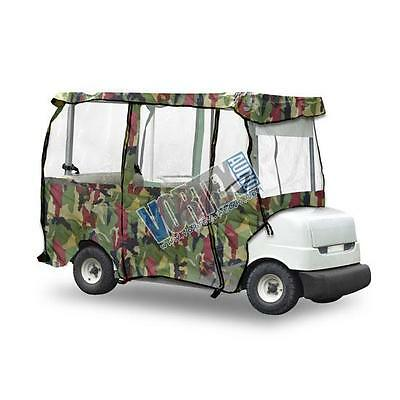 Pyle PCVGCE34 Armor Shield Deluxe 4 Sided Camo 95-Inch Golf Cart Enclosure Cover