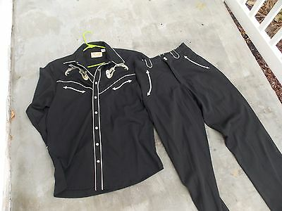 Vintage Mens SCULLY Western Cowboy Country Music Hot Rod Suit Jacket Coat Pants