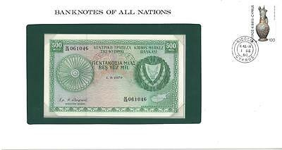 Banknotes of All Nations, Cyprus 500 Mils, 1979, Uncirculated