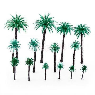 14pcs 1:50 Coconut Palm Tree Model Layout Train Park Forest Diorama Scenery