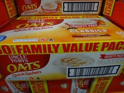 Uncle Toby Variety Oats Value Pack 60 Pack, 5x420G