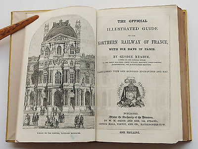 Illustrated Guide to Northern Railway of France by George Measom 1858 – rare
