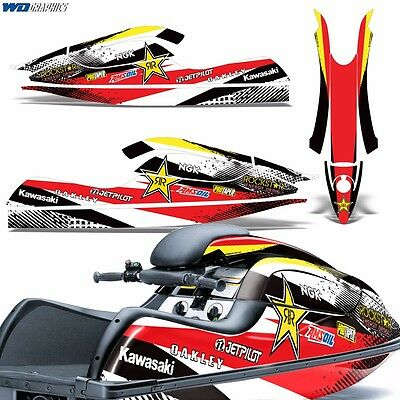 Decal Graphic Kit Kawasaki Jet Ski Wrap Jetski SX-R 800 Parts SX-R800 03-12 RS
