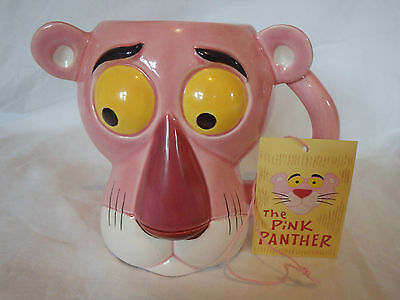 Vintage Pink Panther Mug With Tag Royal Orleans 1980's