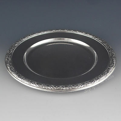 "International STERLING Silver 6"" Bread Plate Prelude Repousse H576"