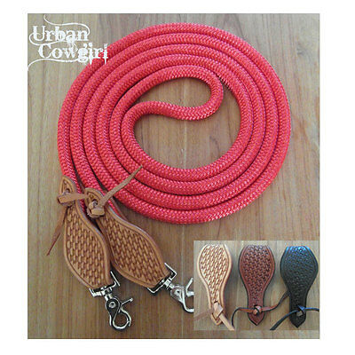 Rope Reins with Waterloops & Clips - Western, Parelli, Natural Horsemanship