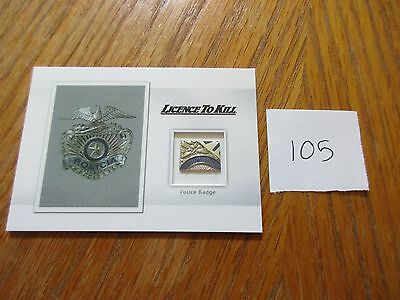 James Bond Archives 2016 SPECTRE Edition Police Badge Prop/Relic MR5 # 105/125