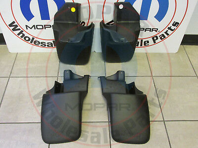 JEEP WRANGLER Set Of 4 Front & Rear Molded Splash Guards NEW OEM MOPAR