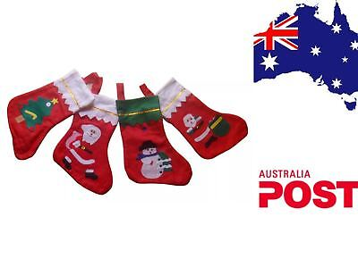 Whole Sale Christmas X'mas Party Tree Hanging Santa Stocking Socks Bulk