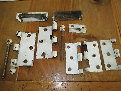 "Vintage Door Hardware Ball Tip Hinge Lot Painted 3"" 4"" Steel"